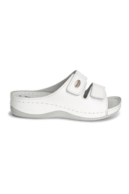 Hvit Tamaris White Leather Sandaler, BN 104
