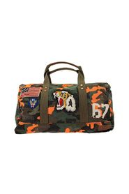 Duffle bag in camouflage canvas with tiger