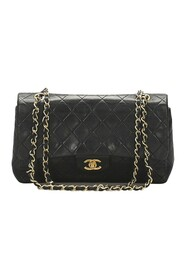Pre-owned Medium Classic Lambskin Leather Double Flap Bag