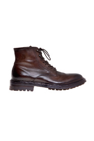 Amphibian in dark brown brushed leather
