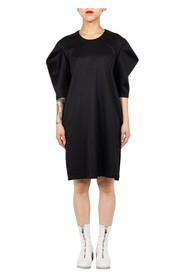 Pleated Sleeve Shift Dress