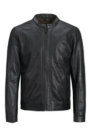 Leather jacket Clean style