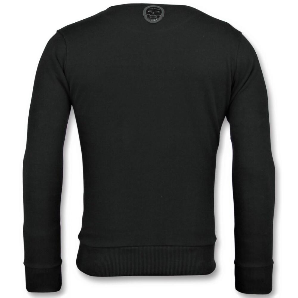 Black Sportline Wolf - Cool Sweater Men   Local Fanatic   Bluzy bez kaptura - Najnowsza zniżka wntwM