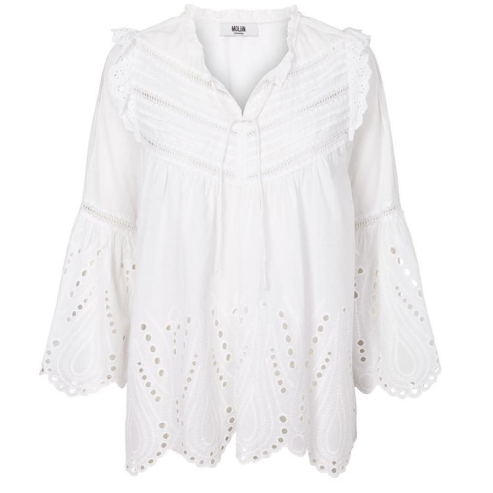 Bluse mit Anglaise