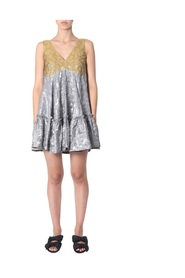 DRESS WITH RUCHES