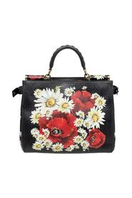 Floral Print Leather Small Miss Sicily Top Handle Bag