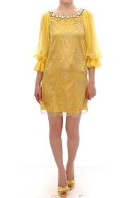 Lace crystal mini dress