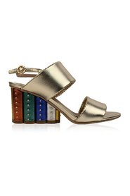 Leather Gavi Heeled Sandals US 7C EU 37.5