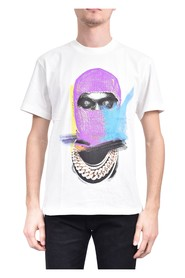 T-shirt mask painted on front and logo