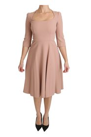 3/4 Sleeves A-line Dress