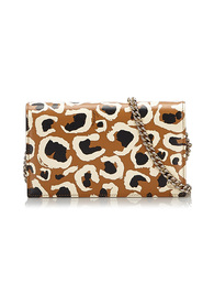 Leopard Print Betty Wallet on Chain