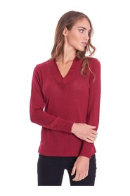 V-NECK SWEATER WITH LUREX PROFILES