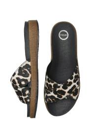 Sandaal van Woden in leopard