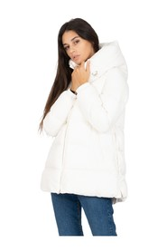 Wide down jacket with hood