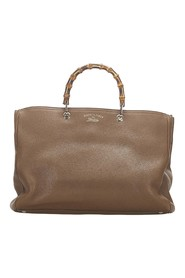 Bamboo Shopper Leather Satchel