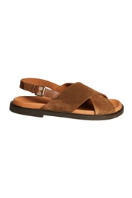 Yoko suede leather sandals