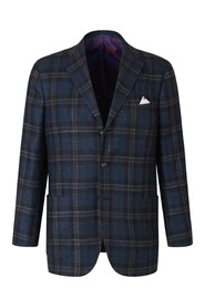 Checked Straight Blazer