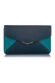 Pre-owned 2Jours Envelope Clutch Bag Leather Calf
