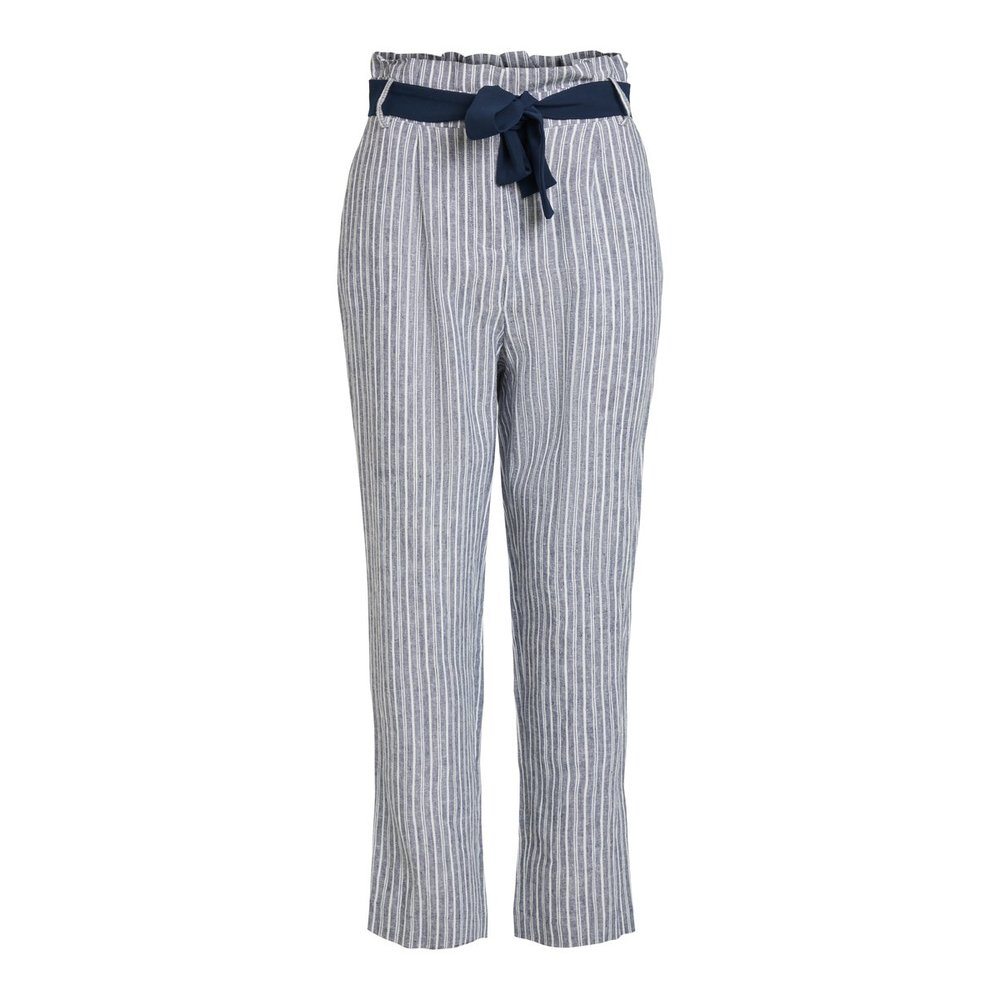 Trousers Striped, high waisted