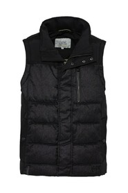 Padded Quilted Vest Anthra