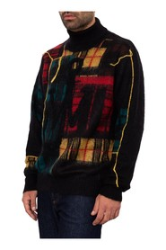 Patchwork Turtleneck