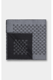 Anthracite Jacquard stole with GG print