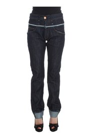 Cotton Straight Fit High Waist Jeans