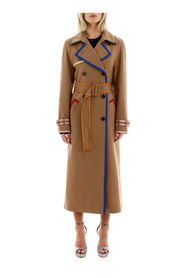 Trench coat with lurex hems