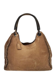 Pre-owned Suede Leather Handbag