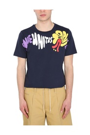 T-SHIRT WITH FLORAL STRIPE PRINT