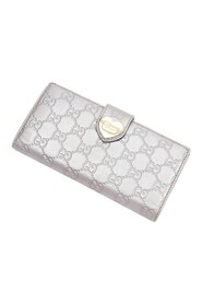 Pre-owned Heart Continental Wallet