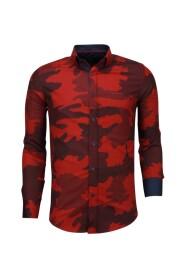 Italiaanse Overhemden - Slim Fit - Blouse Classic Army Pattern