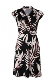 Pauline SS Dress - BLACK FLOWER, L