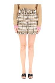 tartan tweed shorts