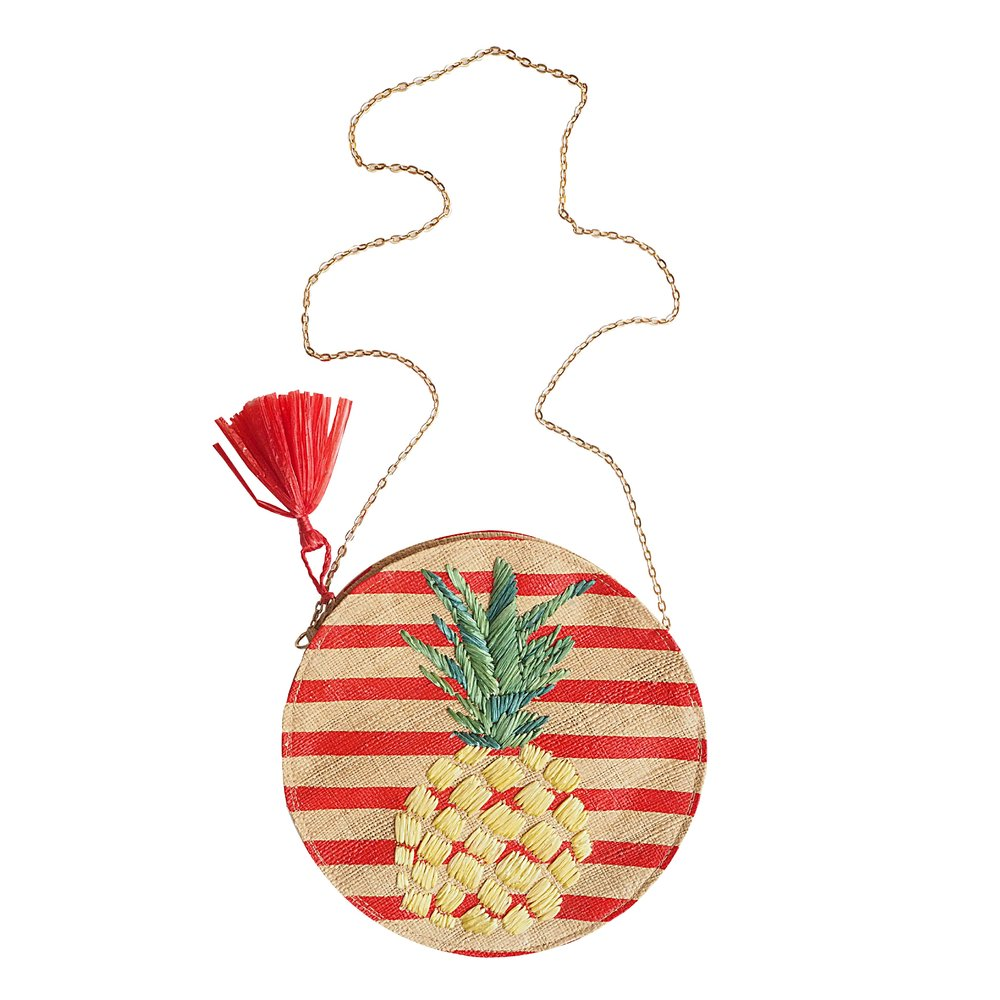 KLARA Pineapple Straw Bag
