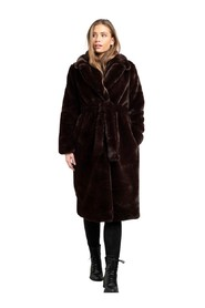 Smoothie Belted Coat Faux Fur