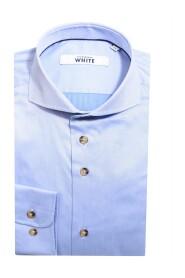 Slim Fit Blå Skjorte