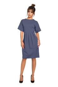 Dresowa sukienka z zakładkami