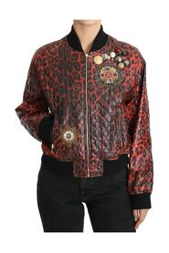 Leopard Button Crystal Jacket