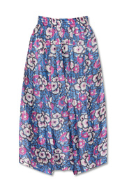 Trousers with floral motif