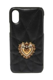Leather Sacred Heart iPhone X Case