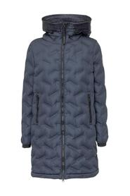 Long Down Jacket with Hood