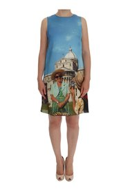 SANREMO Shift Silk Dress