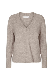 92015 Cassini V-neck Knit 1 199 pull Zand