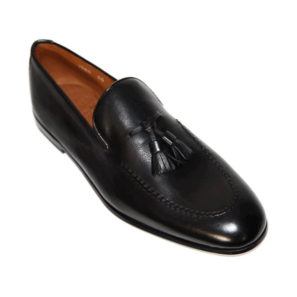 black Loafers - DU1080PANAUF036-NN00 | Doucals | Loafers | Men's shoes