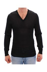 V-hals Rayon Sweater Pullover