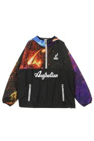 Slip-on Windbreaker Printed Smash Jacket