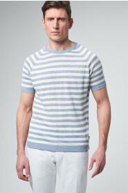 Leinen Strickshirt