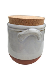 Small - Keramik krukke med låg