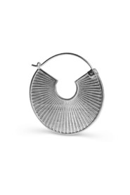 Pleated earring, sterling silver